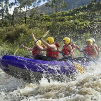 White water rafting is a popular activity in Jamaica