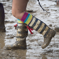 Wellies are among people's festival essentials