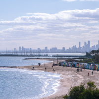 The teenager had been on the beach at Melbourne