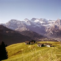 The Swiss Alps are a major tourist destination