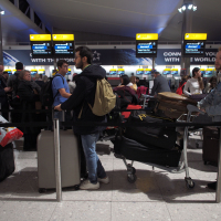 Departures from Heathrow were suspended causing delays