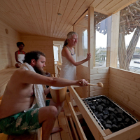 Going to the sauna is a traditional Scandinavian hobby