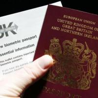 A biometric passport with an information leaflet
