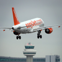 An easyJet pilot was punched in the face