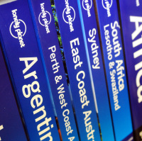 The Lonely Planet series of books is popular with travellers