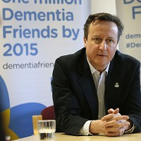 David Cameron has pledged to support dementia studies