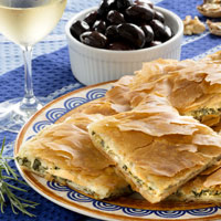 Try some delicious spanakopita!