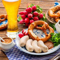 What a way to start your day – a traditional Bavarian breakfast