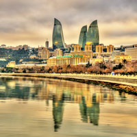 Baku is one of Europe's fastest growing cities.