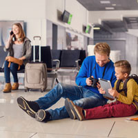 Airports can be stressful places with children